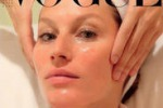 Trattamenti beauty, Gisele Bundchen in posa su Vogue Italia