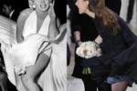 Kate come Marilyn Monroe: il vento le alza la gonna