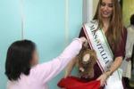 Miss Italia tra i piccoli pazienti del Sant'Andrea a Roma