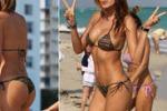 Aida Yespica, bikini sexy sotto il sole di Miami: le immagini