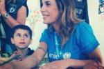 Elisabetta Canalis, le immagini della missione in Libano