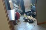 Vandalli negli uffici comunali a Palermo. Le immagini