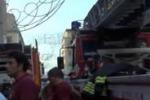 Incendio in casa, muore un'anziana a Palermo: le immagini