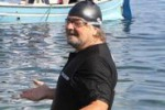 Grillo in Sicilia a nuoto
