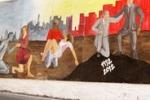 Capaci, inaugurato il murales della legalita'