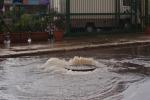 Sciacca, troppa acqua e salta la condotta: strade allagate