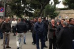 Gesip. Riunione sulla vertenza e protesta degli operai: le foto