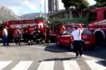 Fulmine su cabina elettrica, chiuso 3 ore aeroporto Palermo. Immagini