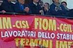 Termini, diecimila in corteo per sostenere i lavoratori Fiat
