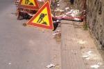 Maltempo a Camporeale, crolla una palazzina disabitata