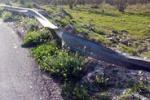 Palermo, guard rail danneggiato: pericoli lungo la provinciale