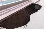 Vittoria, erosione delle coste e crolli in strada a Scoglitti