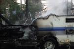 Santa Croce, in fiamme una roulotte da campeggio
