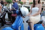 Attori in Vespa a Taormina per i Nastri d'Argento