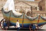 Festino, il carro arriva in Cattedrale tra intoppi e guasti