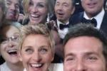 Super-selfie delle star agli Oscar: è il più twittato della storia