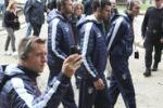 Gli Azzurri tra i lager di Auschwitz: le immagini