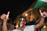 Italia in finale, notte di festa a Palermo