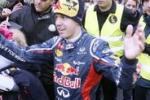 Vettel festeggia il titolo tra le strade di casa