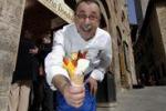 Il gelato artigianale alla partita del Cuore di Emergency