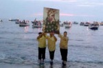 A Custonaci lo sbarco del quadro di Maria Santissima: le foto