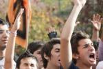 """Palermo, il corteo degli """"Studenti in Movimento"""""""