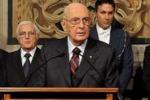 Il discorso di Napolitano: nessun ribaltone