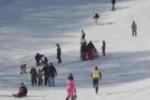 Piano Battaglia, boom di sciatori e di incidenti