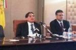 Tagli alla Regione, la conferenza stampa di Crocetta