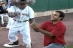 Chiede di sposarlo durante una partita di baseball ma lei rifiuta