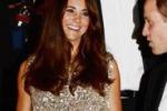 Kate in abito glitter, prima cena di gala da neomamma