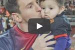 Leo Messi festeggia con l'Unicef il primo anno del figlio