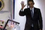 Obama a Roma, le immagini dell'arrivo a Fiumicino