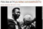 """""""Pelè è morto"""", gaffe della CNN in diretta tv"""