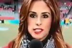 Cronista colpita in testa da una pallonata in diretta tv