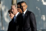 11 settembre, Obama e Bush insieme a Ground Zero