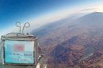 Sonda con display a 35 mila metri Il mare e l'Etna In onda dallo spazio