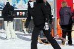 Anna Safroncik innamorata tra le nevi di Saint Moritz