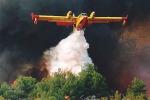 Ancora fiamme a San Martino delle Scale, canadair in azione