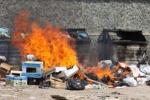 Cassonetti in fiamme a Palermo e provincia