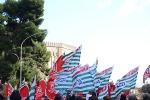 Sit-in dei pensionati siciliani: in 2000 davanti a palazzo d'Orleans