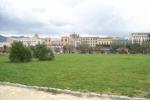 Palermo, l'erba ingiallita del Foro Italico