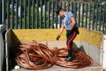 Gela, furti di rame: sottratti oltre 1000 metri di cavo