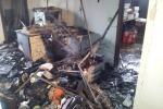 Gela, fiamme all'assessorato ai Lavori Pubblici: documenti distrutti