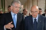 Incontro Napolitano - Monti sulla questione Sicilia