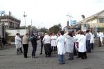 Catania, protesta dei lavoratori Myrmex