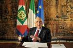 """Il messaggio di Napolitano: """"C'è una questione sociale ma fiducia nell'Italia"""""""