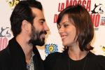 Claudia Pandolfi, red carpet felice insieme al nuovo fidanzato