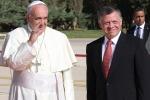 """Il Papa in Palestina: """"Diritto di esistere dei due Stati"""""""