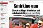 Pippa nei guai, amico punta una pistola contro un paparazzo